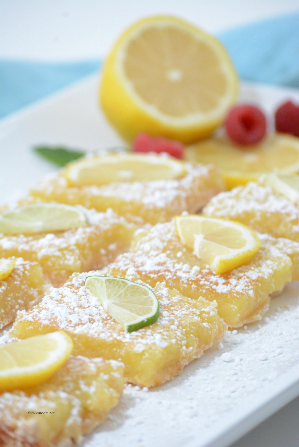 Desserts | These Lemon Bars are the perfect Spring or Summer treat. Tangy and delicious, the best lemon bar recipe we have tried.