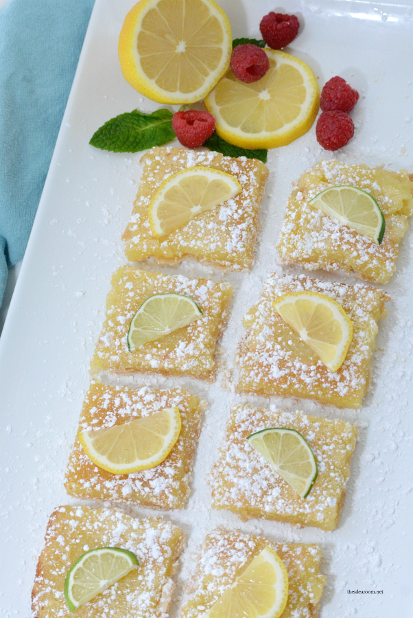 Lemon Bar Recipe | These Lemon Bars are the perfect Spring or Summer treat. Tangy and delicious, the best lemon bar recipe we have tried.