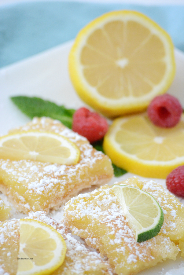 Dessert Recipes | These Lemon Bars are the perfect Spring or Summer treat. Tangy and delicious, the best lemon bar recipe we have tried.