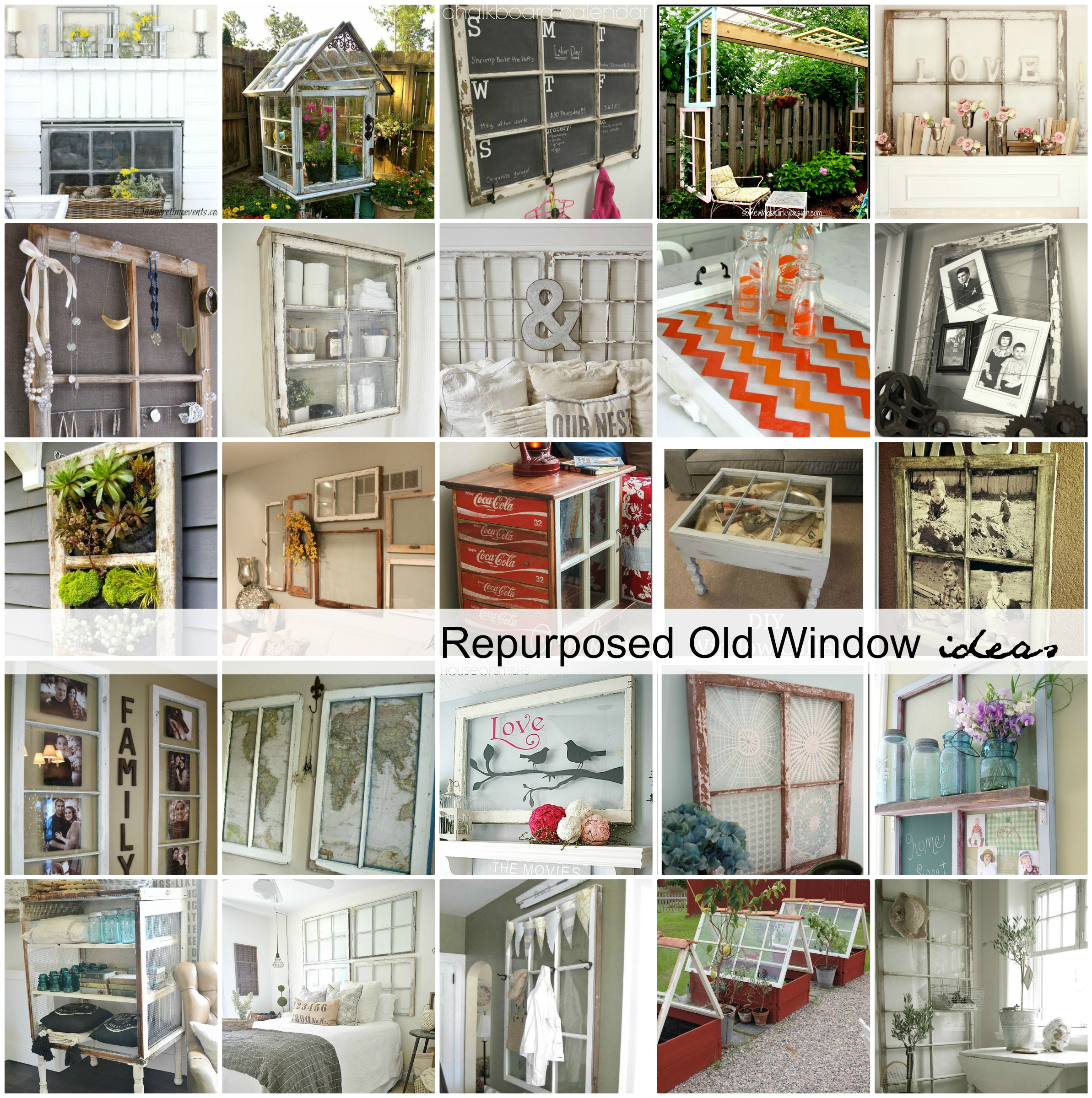 Repurposed old window ideas the idea room for Repurposed home decorating ideas