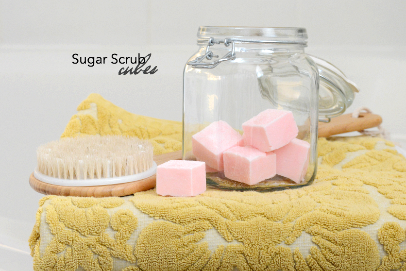 Gift Ideas | Make this Sugar Scrub Cubes Recipe for smooth, soft exfoliated skin. Perfect for a DIY gift idea for friends and family.