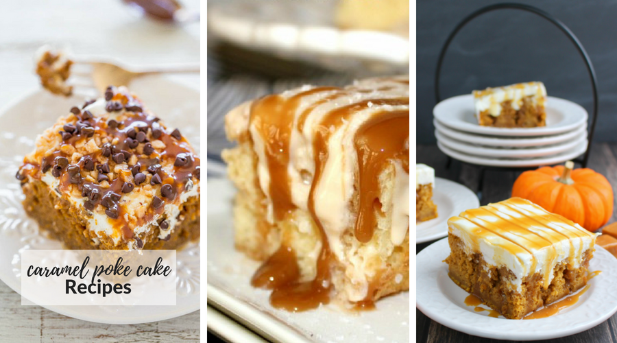 caramel poke cake recipes
