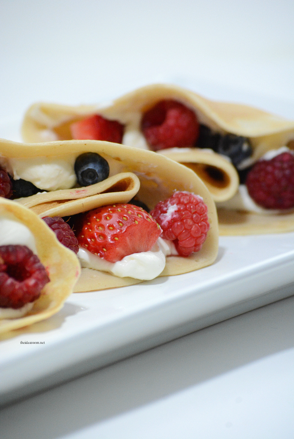 Crepes | Make these Berry Cream Cheese Crepes for Breakfast or a Brunch. The BEST Crepe Recipe we have found! Make them sweet or savory!