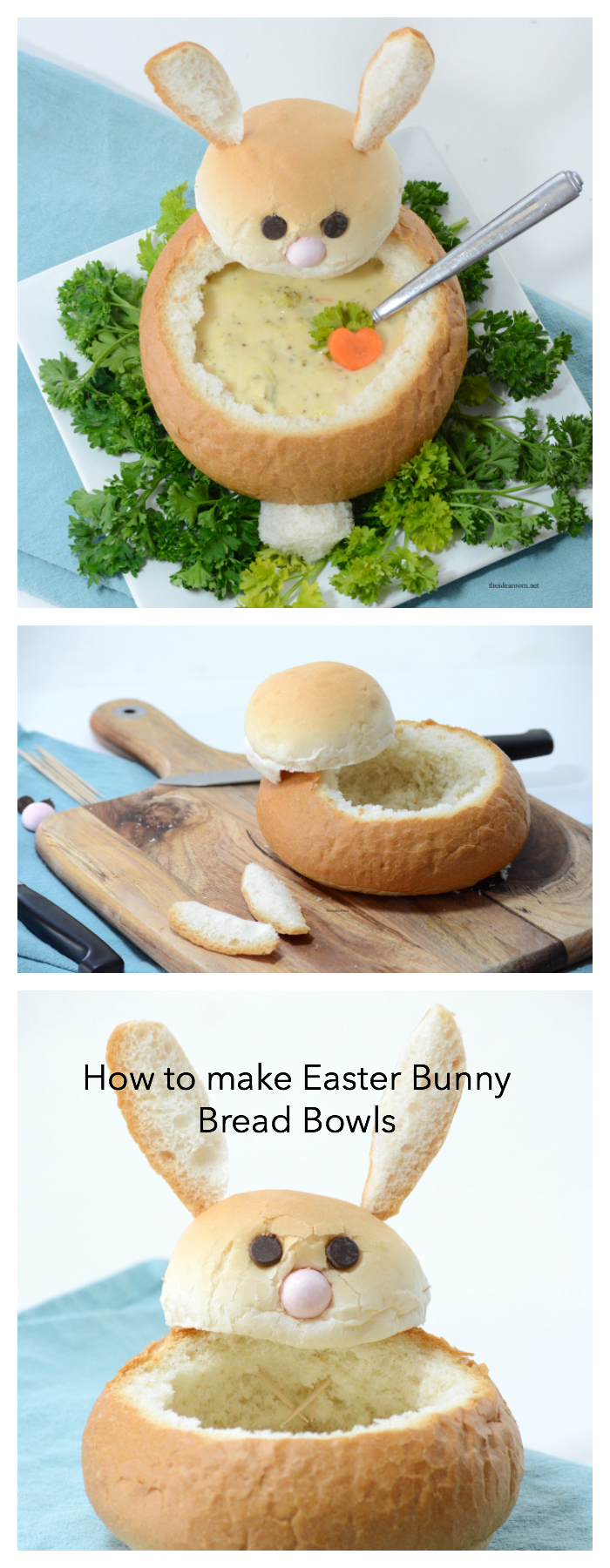 Easter  Make These Creative Diy Easter Bunny Bread Bowls Perfect For Your  Easter Dinner