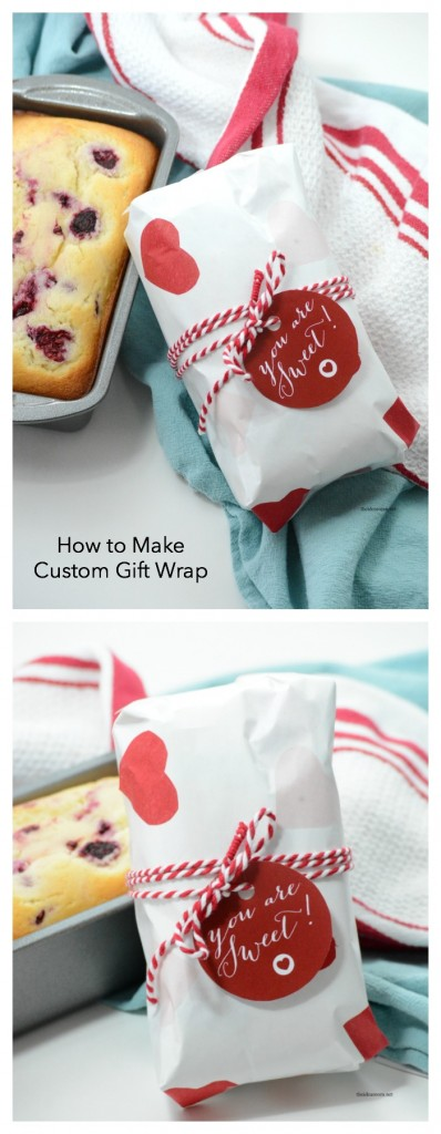 Make your own gift wrap with this step by step tutorial teaching you how to make custom gift wrap. Video Tutorial too!