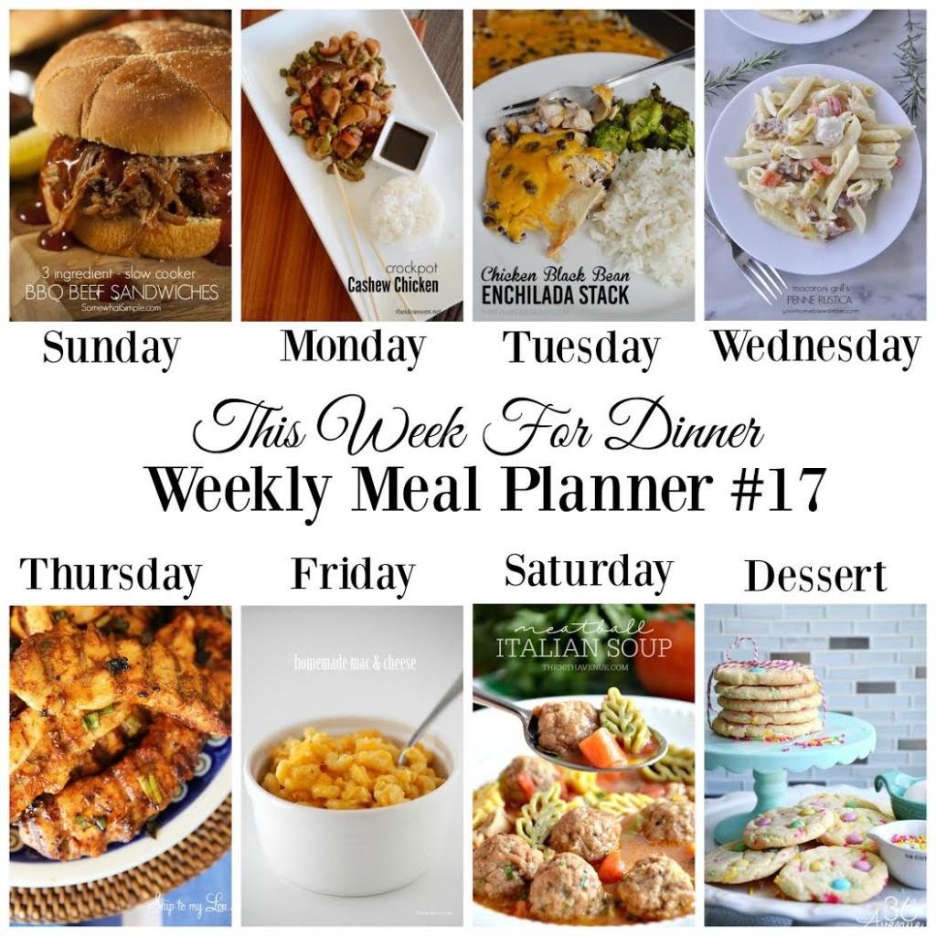 menu plan 17