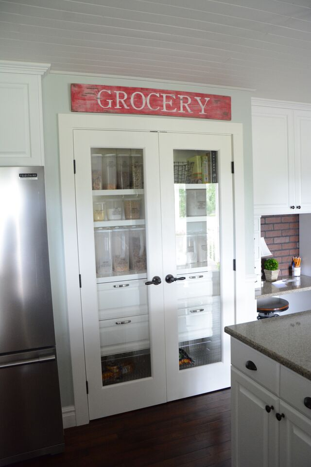 kitchen pantry grocery sign - Diy Kitchen Pantry Ideas