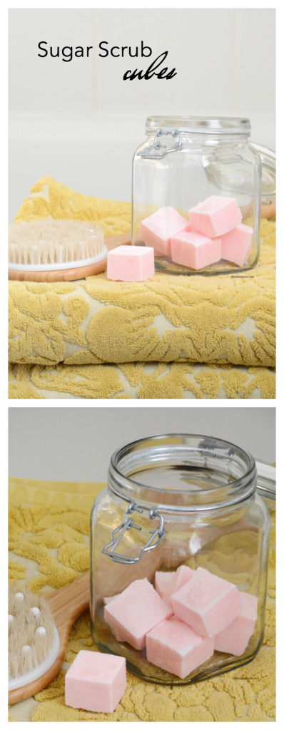 Spa Recipes | Make this Sugar Scrub Cubes Recipe for smooth, soft exfoliated skin. Perfect for a DIY gift idea for friends and family.