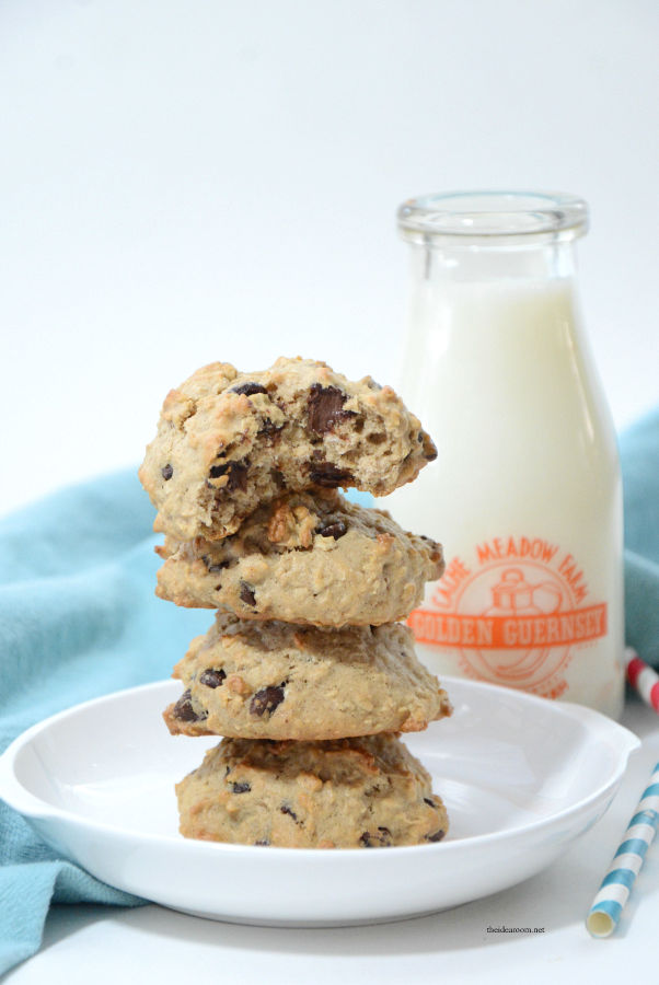 Cookie Recipes | Looking for a delicious Banana Cookies Recipe? These Banana Oatmeal Chocolate Chip Cookies are so tasty and are a great way to use your overripe bananas.