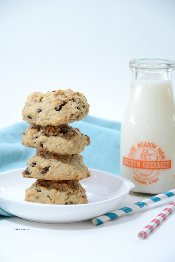 banana recipes | Looking for a delicious Banana Cookies Recipe? These Banana Oatmeal Chocolate Chip Cookies are so tasty and are a great way to use your overripe bananas.