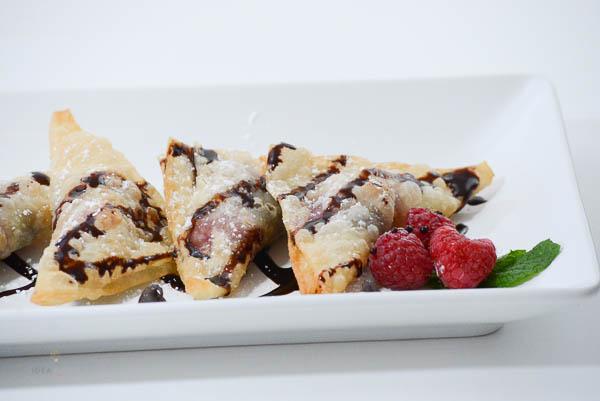 Chocolate Raspberry Wontons - The Idea Room