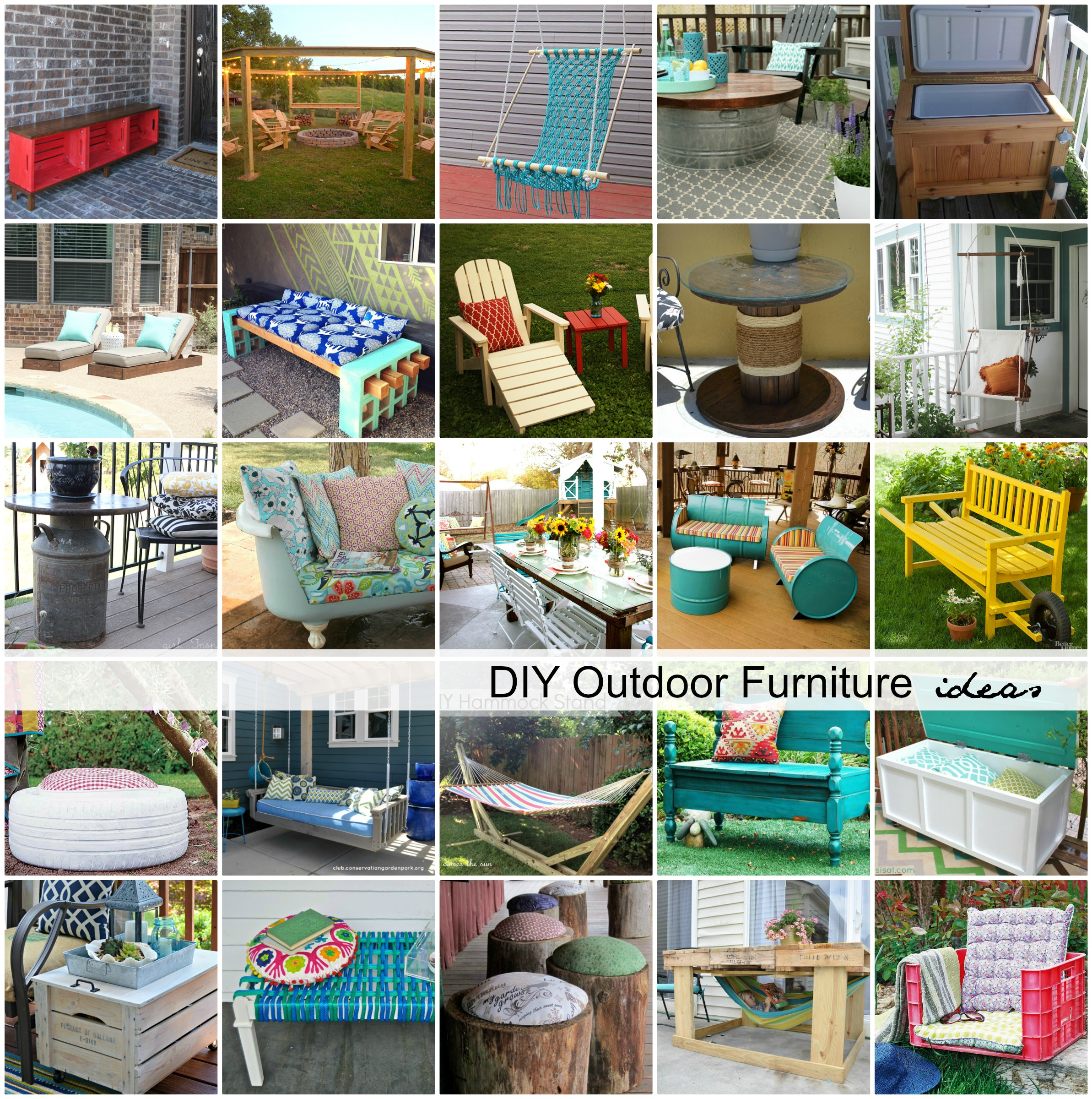 Gallery For Repurposed Outdoor Furniture Ideas