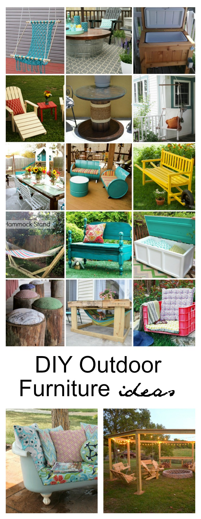 Homemade outdoor furniture ideas - Diy Outdoor Furniture Ideas Pin Jpg