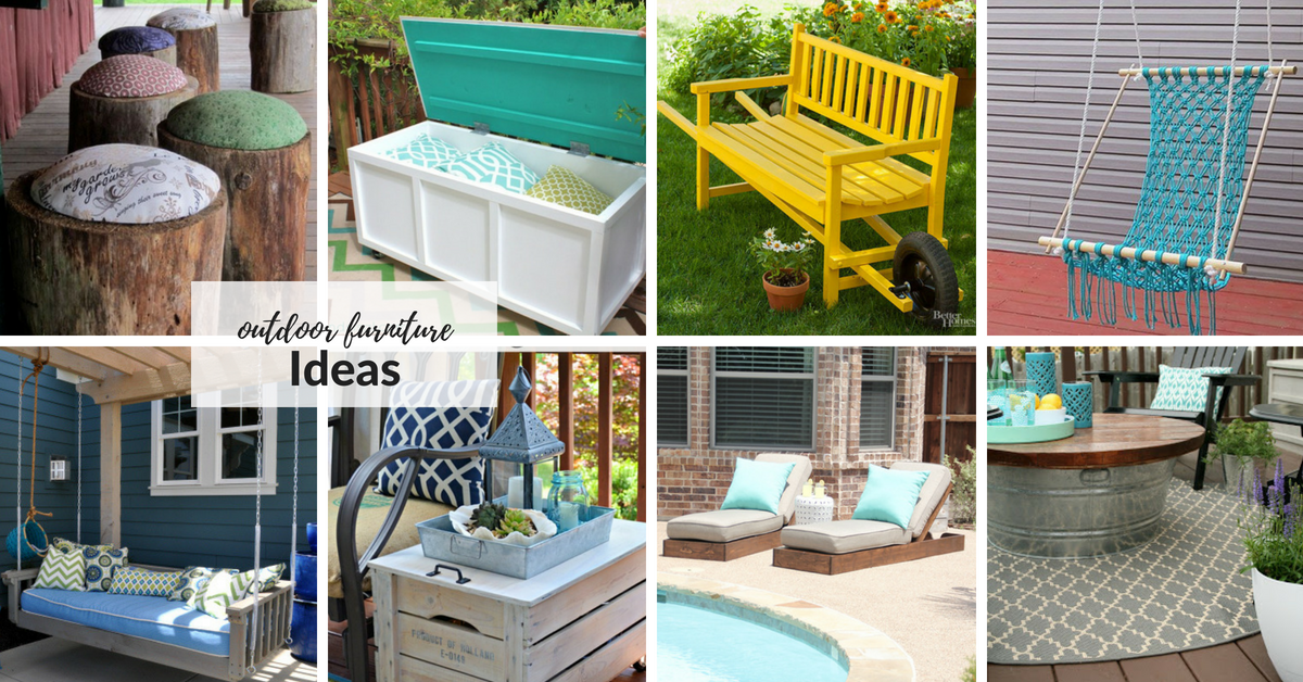 Make Your Backyard A Place Where You Want To Hangout All Summer Long With These Outdoor Furniture Ideas