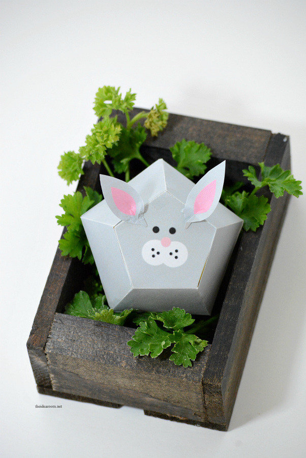 Easter Craft | Free Printable Easter Bunny Box Template.  Make your own Easter gift or Easter Decorations...aren't they adorable?