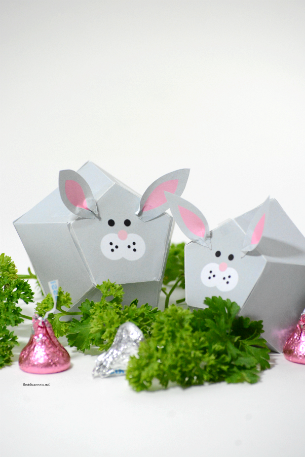 Easter Treat | Free Printable Easter Bunny Box Template.  Make your own Easter gift or Easter Decorations...aren't they adorable?