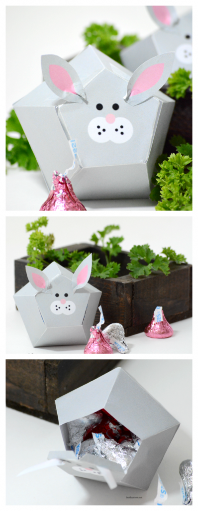 Easter | Free Printable Easter Bunny Box Template.  Make your own Easter gift or Easter Decorations...aren't they adorable?