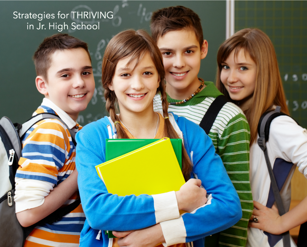 Parenting | Sharing some strategies for helping your pre-teens and teenagers THRIVE in Junior High School. Great tips for some difficult years!