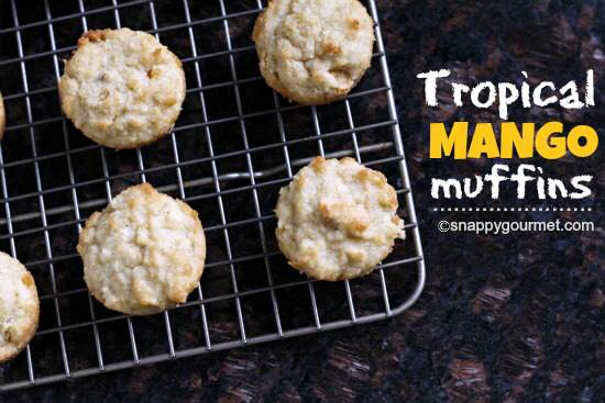 Coconut Mango Oat Muffins Recipe — Dishmaps