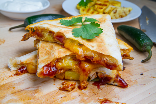 BBQ Chicken and Pineapple Quesadillas 500 3374