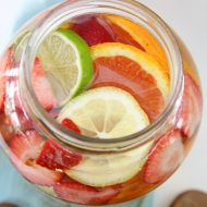 Non-Alcoholic Fruit Sangria Drink