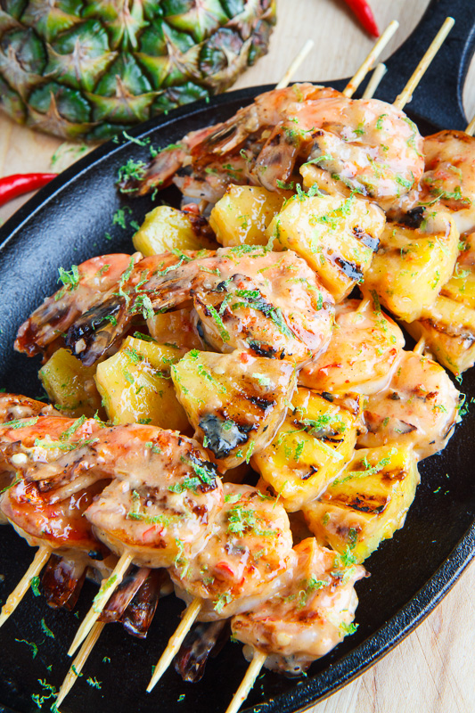 Grilled Coconut and Pineapple Sweet Chili Shrimp 800 1575
