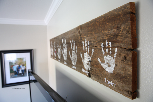 Diy Handprint Wall Sign The Idea Room