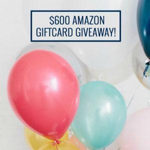 $600 Amazon Giveaway