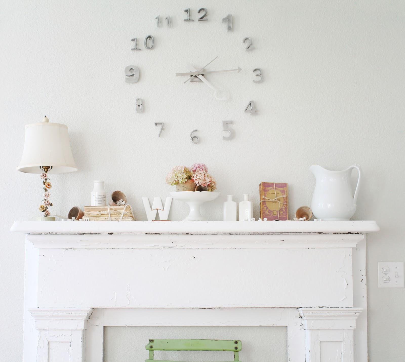 dreamy whites clock