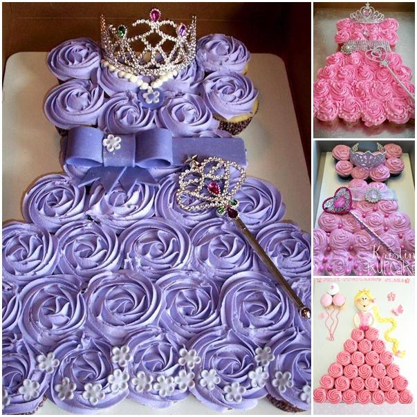 princess-cupcake-cake