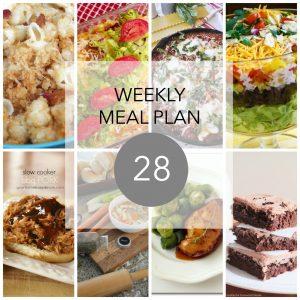 Weekly Menu Plan 28
