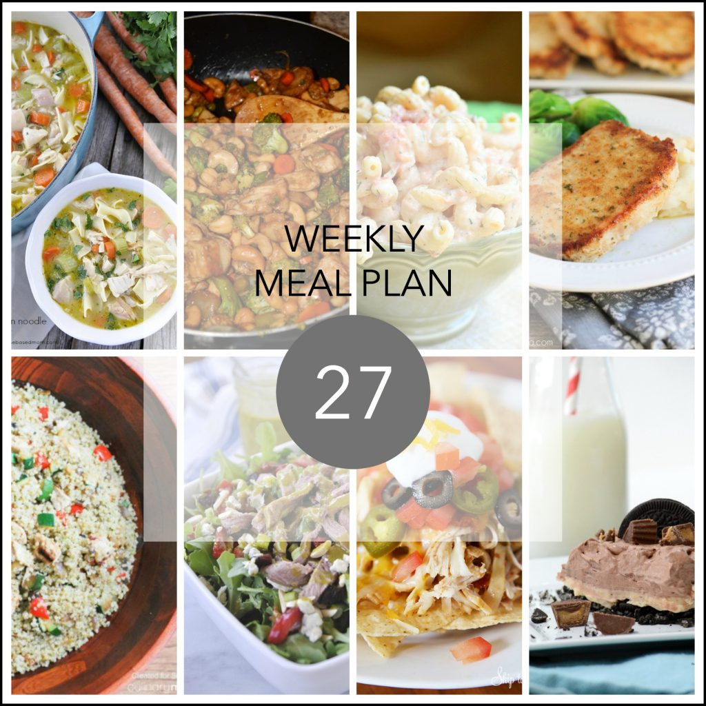 weekly meal plan 27 FB