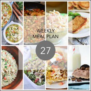 Weekly Menu Plan #27