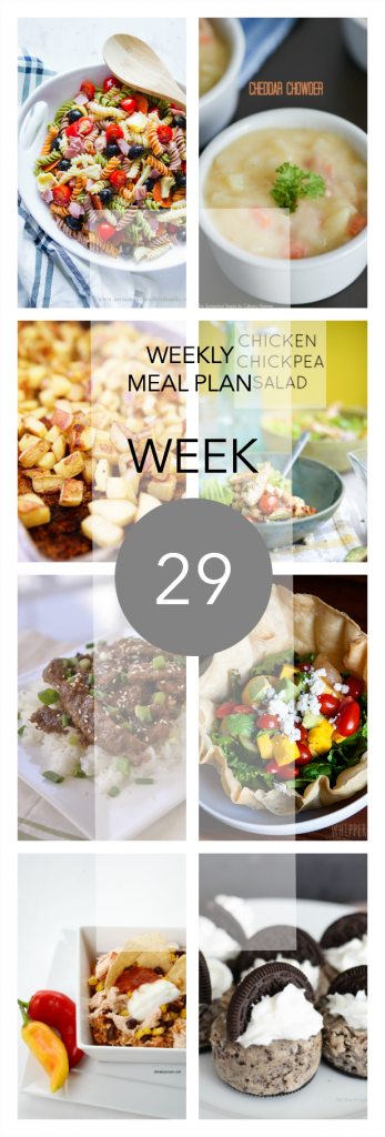 weekly meal plan 29