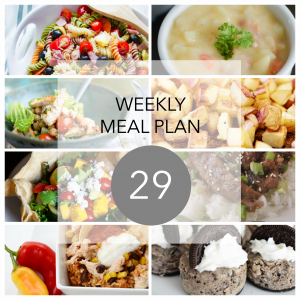 Weekly Meal Plan 29