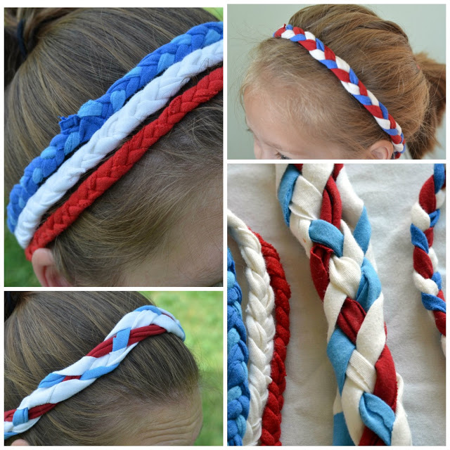 4th of July Headbands from t-shirts