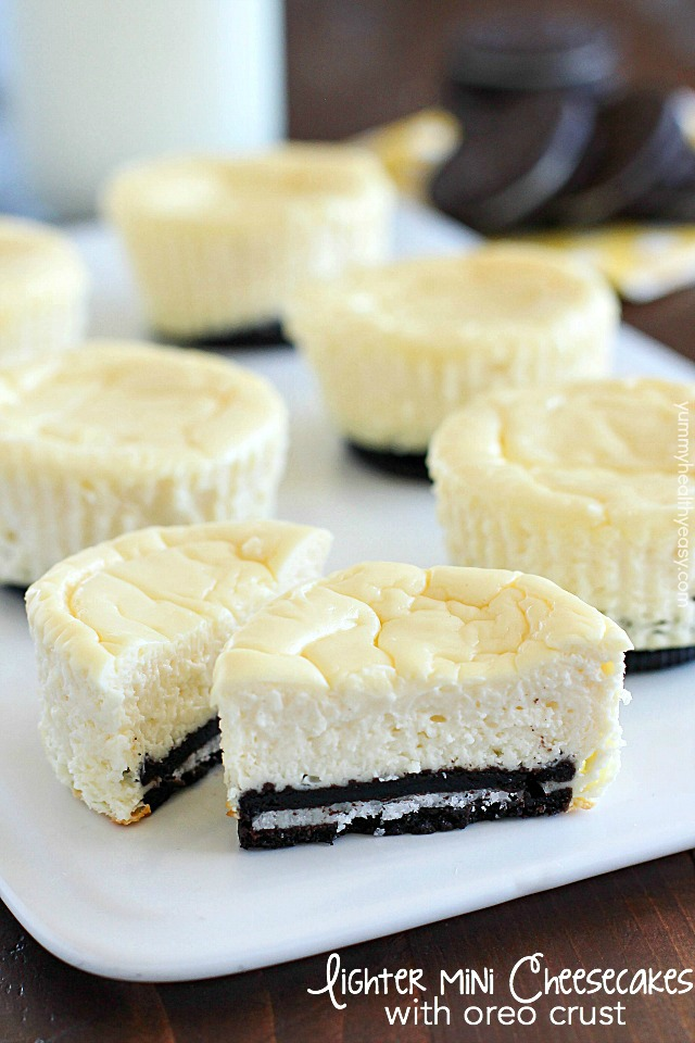 Lighter-Mini-Cheesecakes-with-Oreo-Crust-text