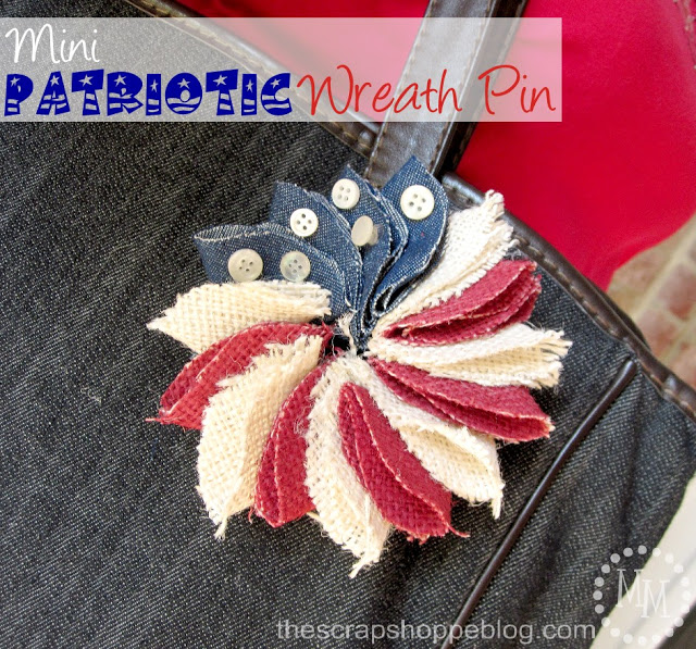 Patriotic Wreath Pin 1