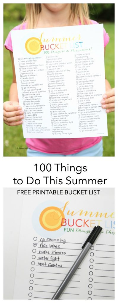 Summer Bucket List 100 Things To Do In Summer The Idea Room