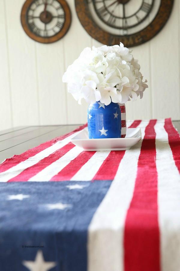 flag- table-runner theidearoom.net a