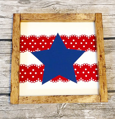 red white and blue vinyl star 2