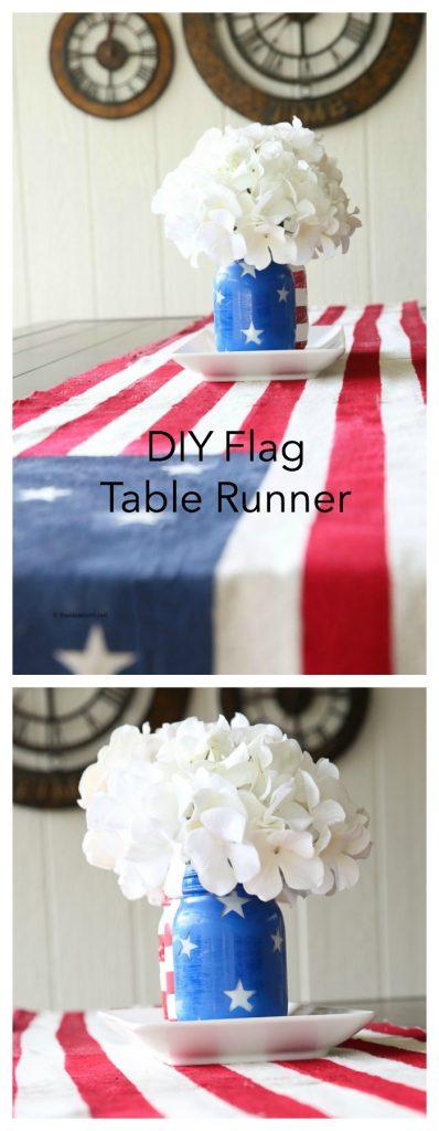 table flag runner pin