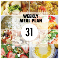 Weekly Meal Plan 31
