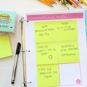 Back to School Printables with Post-It