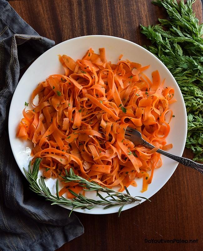 CarrotRibbonswithRosemaryButter-2