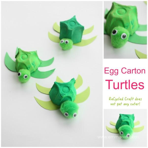 Egg-Carton-Turtles-great-recycling-craft-idea-600x600