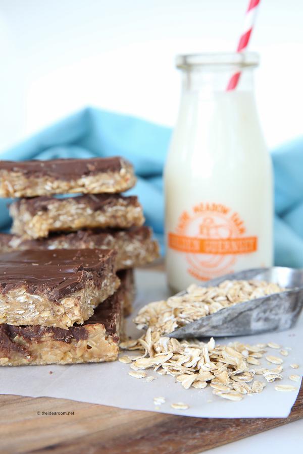 No-Bake Peanut Butter Oatmeal Bars theidearoom.net-4