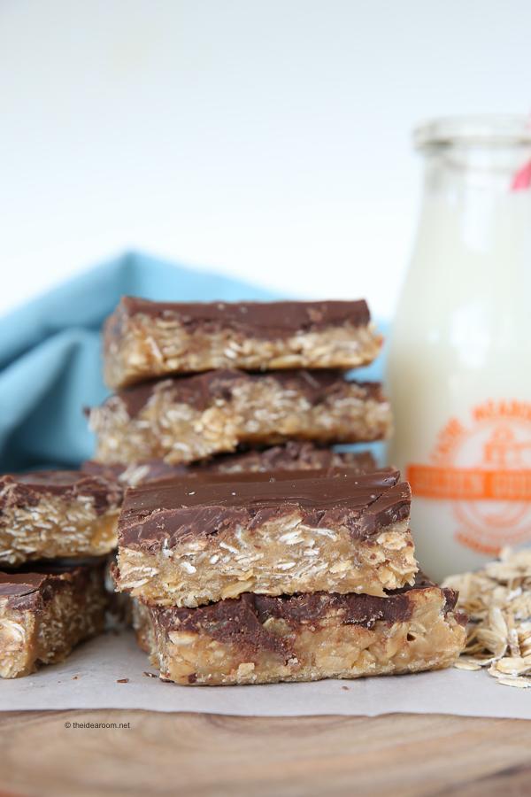 No-Bake Peanut Butter Oatmeal Bars theidearoom.net-6