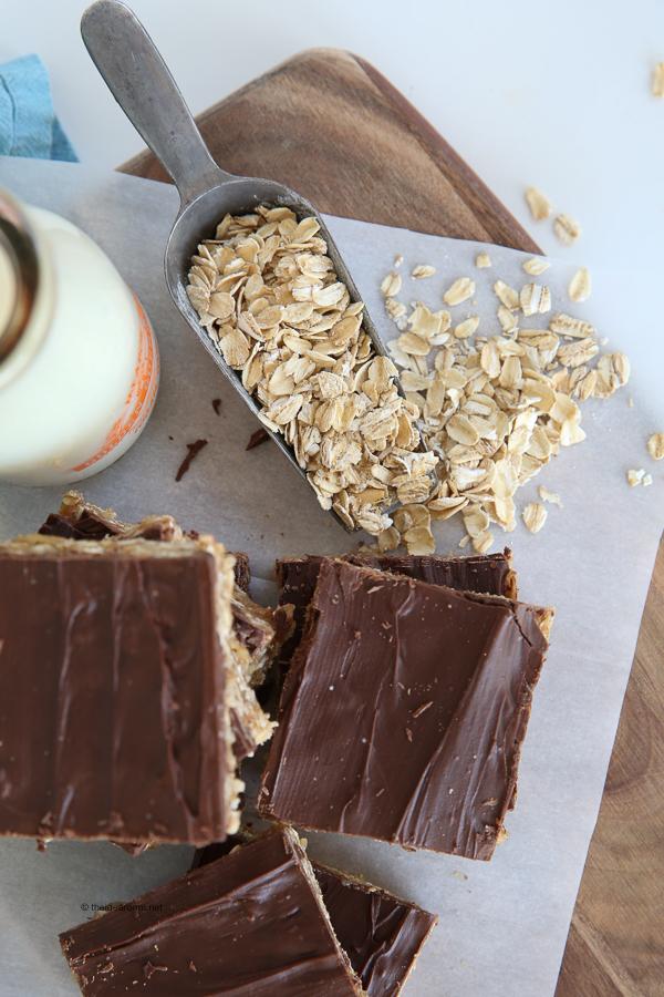 No-Bake Peanut Butter Oatmeal Bars theidearoom.net-8