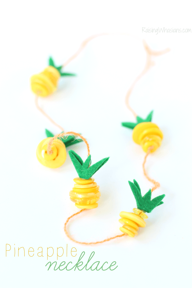 Pineapple-necklace-kids-craft